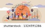 immigration vector illustration.... | Shutterstock .eps vector #1324591286