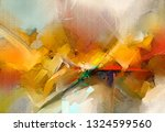 abstract colorful oil painting... | Shutterstock . vector #1324599560