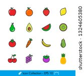 fruits related icons   vectors...