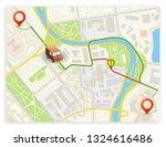 isometric city map navigation ...   Shutterstock .eps vector #1324616486