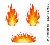 red fire and orange flame.... | Shutterstock .eps vector #1324617593