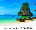 thailand ocean beach. thai... | Shutterstock . vector #132461864