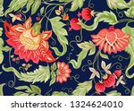 seamless pattern with stylized... | Shutterstock .eps vector #1324624010