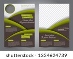 flyer template. brochur design...   Shutterstock .eps vector #1324624739