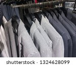 set of stripy suits with shirts ... | Shutterstock . vector #1324628099