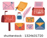 post supplies set  mailbox ... | Shutterstock .eps vector #1324631720