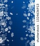 winter snowflakes border trendy ... | Shutterstock .eps vector #1324636913