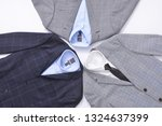 set of three stripy suit with... | Shutterstock . vector #1324637399