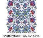 flower borders with fantastic... | Shutterstock .eps vector #1324645346