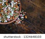 colorful mixture of legumes ... | Shutterstock . vector #1324648103