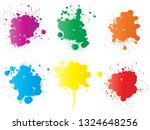 vector collection of artistic... | Shutterstock .eps vector #1324648256