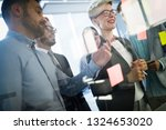 business people conference in... | Shutterstock . vector #1324653020