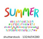 bright hand drawn alphabet for...   Shutterstock .eps vector #1324654280