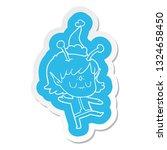 quirky cartoon  sticker of a... | Shutterstock .eps vector #1324658450