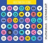 big multimedia icon set  trendy ... | Shutterstock .eps vector #1324666169