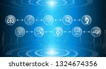 abstract background technology... | Shutterstock .eps vector #1324674356