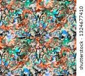 seamless pattern camouflage...   Shutterstock . vector #1324677410