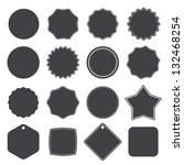 set of blank retro vintage... | Shutterstock .eps vector #132468254