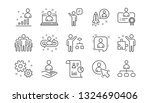 management line icons. business ... | Shutterstock .eps vector #1324690406