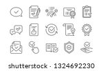 approve line icons. checklist ... | Shutterstock .eps vector #1324692230