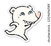distressed sticker of a cartoon ... | Shutterstock .eps vector #1324696589