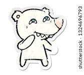 distressed sticker of a cartoon ... | Shutterstock .eps vector #1324696793