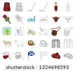 country scotland cartoon... | Shutterstock .eps vector #1324698593