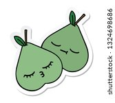 sticker of a cute cartoon green ... | Shutterstock .eps vector #1324698686
