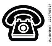 old telephone icon symbol | Shutterstock .eps vector #1324705919