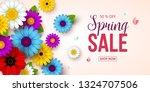 spring sale background with... | Shutterstock .eps vector #1324707506