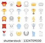 awards and trophies cartoon... | Shutterstock .eps vector #1324709030
