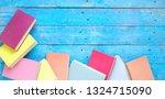 books  flat lay  reading ...   Shutterstock . vector #1324715090