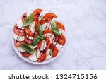 plate of healthy classic... | Shutterstock . vector #1324715156