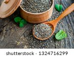 healthy chia seeds in a wooden... | Shutterstock . vector #1324716299