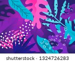colourful and creative floral... | Shutterstock .eps vector #1324726283