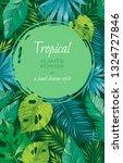 tropical leaf vertical poster... | Shutterstock .eps vector #1324727846
