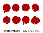 postage red wax seal scroll... | Shutterstock .eps vector #1324728443