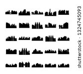 city skyline silhouette vector... | Shutterstock .eps vector #1324745093
