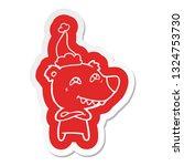 quirky cartoon  sticker of a... | Shutterstock .eps vector #1324753730