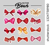 bow hand drawn vector stickers... | Shutterstock .eps vector #1324758980