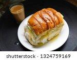 bun maska and chai have become... | Shutterstock . vector #1324759169