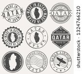 qatar set of stamps. travel... | Shutterstock .eps vector #1324766210
