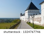 the view of the eastern wall of ... | Shutterstock . vector #1324767746