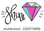 diamond print t shirts and card.... | Shutterstock .eps vector #1324776806