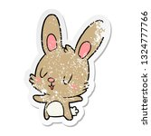 distressed sticker of a cute... | Shutterstock .eps vector #1324777766