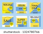 sale banners  flyers with... | Shutterstock .eps vector #1324780766