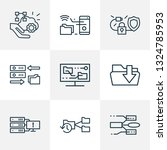 information technology icons... | Shutterstock . vector #1324785953