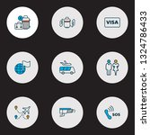travel icons colored line set... | Shutterstock .eps vector #1324786433