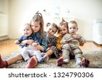 beautiful smile of kids. group... | Shutterstock . vector #1324790306