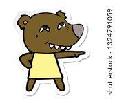 sticker of a cartoon pointing... | Shutterstock .eps vector #1324791059